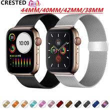 Pulsera Milanese Loop correa para apple watch banda pulseira apple watch 5 4 3 banda 44mm/40mm iwatch 5 42mm 38mm correa de reloj de pulsera(China)