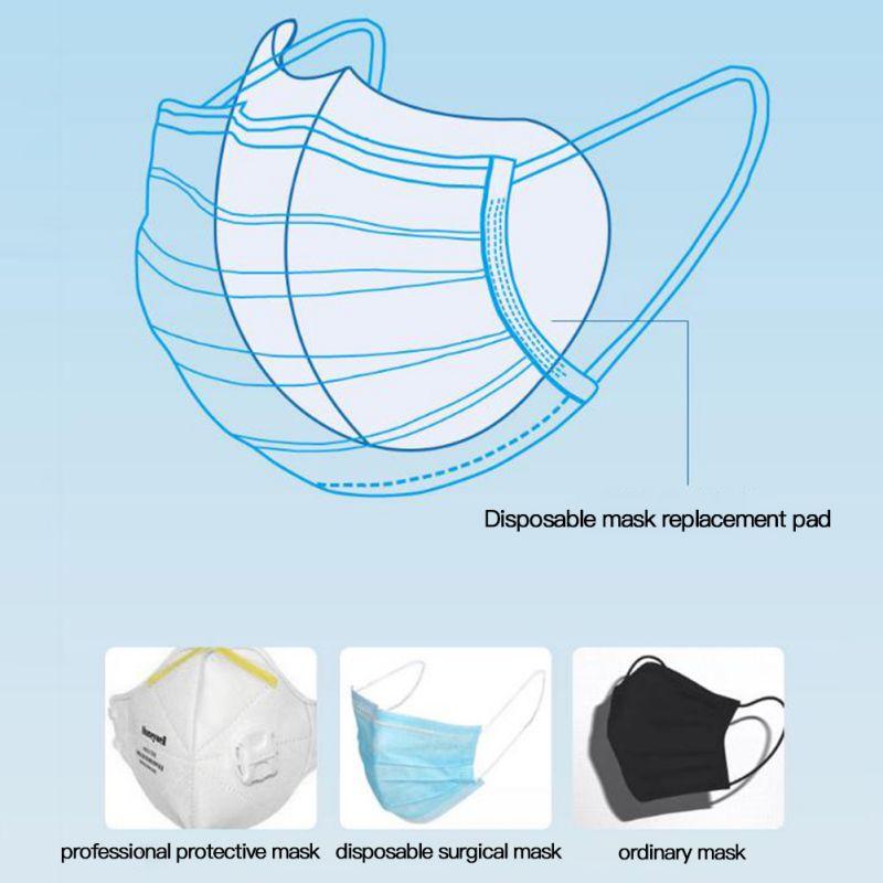 50PCS Disposable Mask Replaceable Filters Pad Skin Friendly Mask Gasket Respirator Anti Coronavirus SARS Mask
