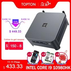 10th Gen Core i9 10980HK i7 10750H Intel Mini PC 2 Lans Windows 10 2*DDR4 2*NVMe Gaming Computer DP HDMI Type-C 3x4K Display