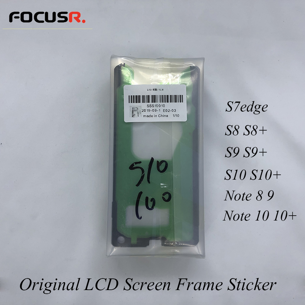 Original LCD Screen Front Glass Frame Bezel <font><b>Sticker</b></font> Adhesive Glue For Samsung S8 S8+ S9 S9+ <font><b>S10</b></font> Note 8 9 10 Mobile Phone Stickes image