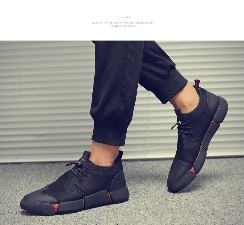 Hd4f8c35fbc8b4c489e36f0af90328e13G Shoes Men Black Autumn Winter Plush Keep Warm Men Casual Shoes Leather Breathable Fashion Men Shoes High Quality