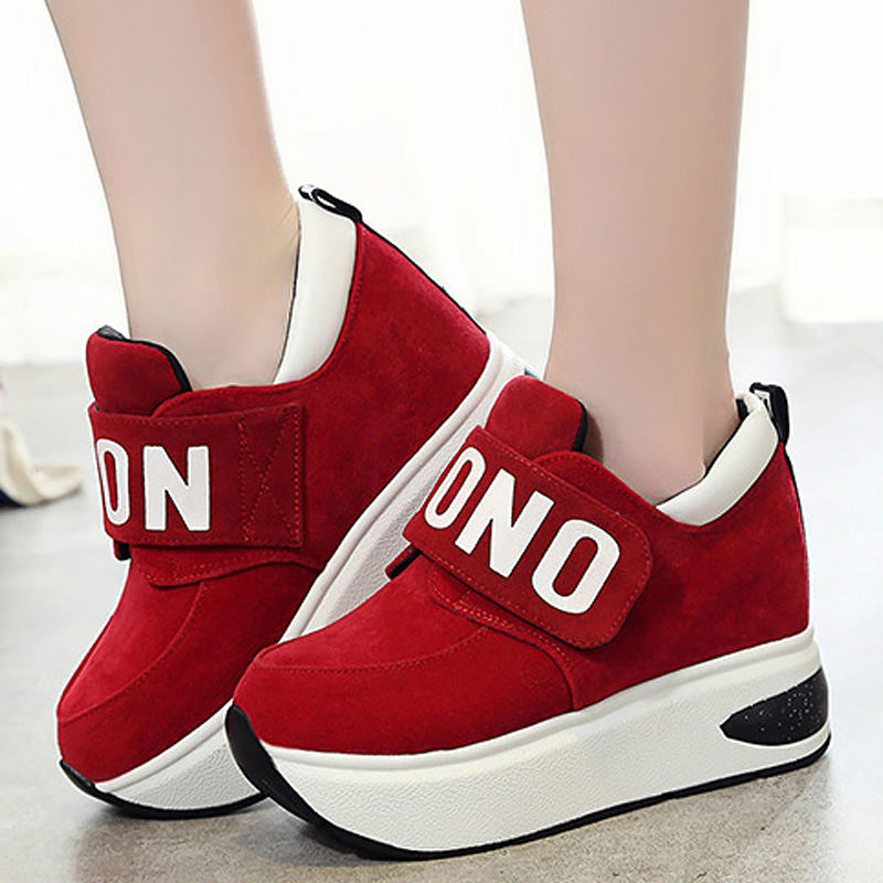 Chunky Sneakers Women Autumn Shoes Platform Wedges Sneakers Increase Ladies Casual Shoes Fashion Comfort Sneakers Women Size 41