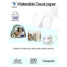 Transfer-Paper Decals Printable-Printing Letter-Size Injket 200pcs/Lot