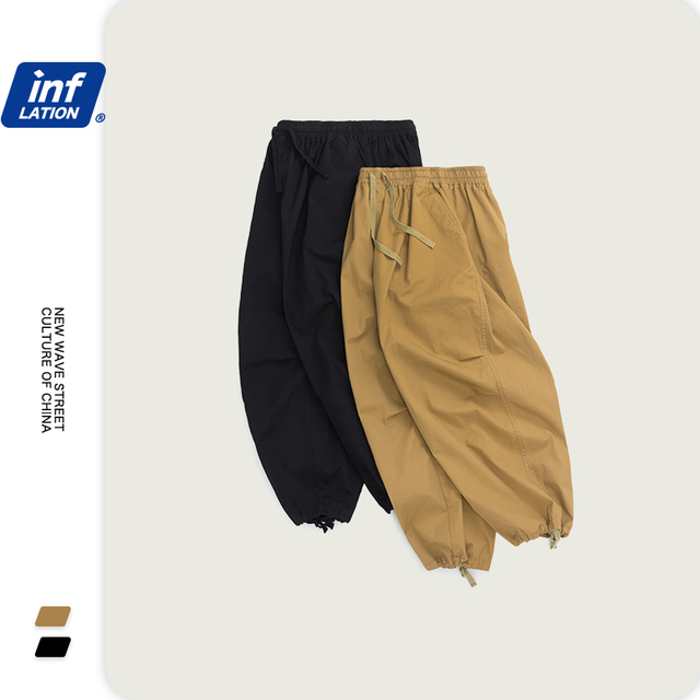 INFLATION Men Hip Hop Baggy Harem Pants 2020 SS Collection Jogger Streetwear Men Harem Pants Windbreaker Men Baggy Pants 3016S20 41