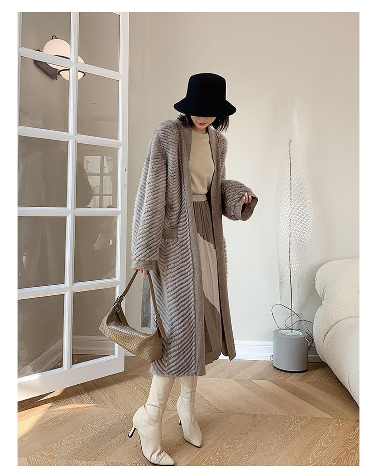Hd4f905fd134549d18f0d065e0b8203d4o HDHOHR 2021 New High Quality Natural Mink Fur Coat Women With Belt Knitted Real MinkFur Jacket Fashion Warm Long For Female