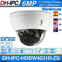 Dahua IPC-HDBW4631R-ZS 6MP IP caméra CCTV POE motorisé Zoom 50M IR SD carte fente sécurité réseau caméra H.265 IK10