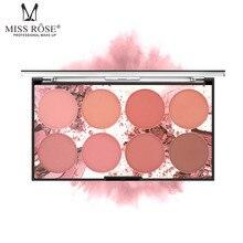 MISSROSE макияж румяна для женщин 8 цветов пудра Цвет Румяна натуральный увлажняющий силуэт для усиления focallure Румяна 1211