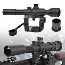 Tactical 4x26 czerwony podświetlany celownik SVD Dragunov zakres optyka wzrok do polowania strzelanie luneta RL6-0012