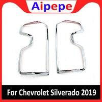 Auto Acessórios Traseira Luzes do Farolim Traseiro Quadro Capa Estilo Do Carro Guarnição Para Chevrolet Chevy Silverado 2018 2019