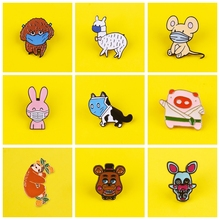 Cute Animals Badges on Backpack Cartoon Animal Brooches Badges for Clothes Enamel Pins for Backpacks Clothes Lapel Pin Badge DIY leisurely cute cats badges for clothes animal enamel pins for backpacks clothes lapel pin badges for backpack badge jewelry gift