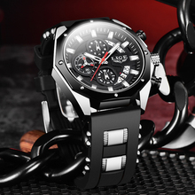 2020 LIGE New Military Men Watches Top Brand Luxury Silicone Sport Watch Men Quartz Date Clock Waterproof Wristwatch Chronograph