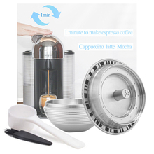 1X Capsule Cup+1X Spoon+1X Brush For Nespresso &Vertuoline&Delonghi ENV135 Coffee Machine Replacement Parts
