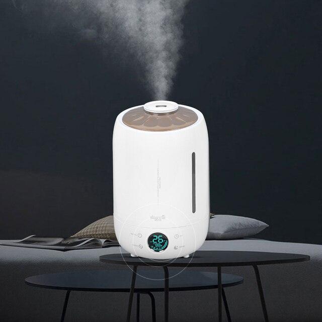 Xiaomi Deerma humidificateur dair arôme diffuseur huile ultrasons brouillard 5l silencieux arôme brumisateur Led écran tactile maison diffuseur deau