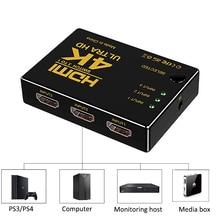 Hdmi Switch 3x1 Ultra HD Video 4k * 2K Hdmi Splitter Switcher mit Infrarot Fernbedienung 5x1 Konverter für HDTV Computer PS3 PS4