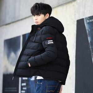 Image 2 - 2019 브랜드 패션 가을 겨울 자켓 파카 남성 여성 코트 후드 웜 남성 겨울 코트 캐주얼 피트 오버 코트 4xl 파커 남성