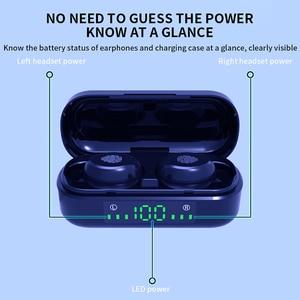 Image 5 - V8 TWS Bluetooth 5.0 kulaklık kablosuz kulaklıklar 8D Stereo spor kulaklık parmak izi dokunmatik LED dijital ekran HD çağrı kulaklık