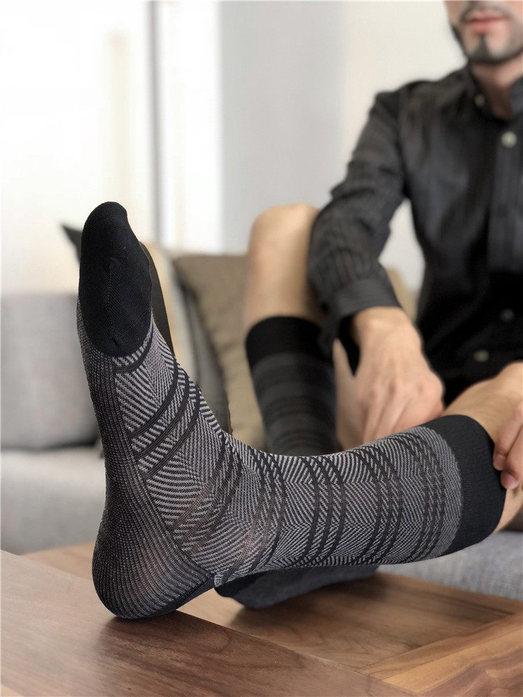 Men's Socks Male Formal Dress Gentleman In Stockings Men's Business Socks Sexy Men's Dress Socks Breathable Men's Cotton Socks