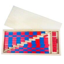 Brinquedo do bebê hastes numéricas montessori matemática vermelho & azul hastes barra de matemática brinquedo aprendizagem & educação clássico madeira crianças brinquedos