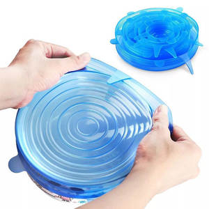 Cookware Wrap-Cover Lids Seal-Bowl Airtight Fresh Stretch Kitchen Silicone Reusable 6pcs
