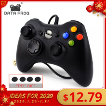 DATA FROG USB Wired Gamepad for Xbox 360 /Slim Controller for Windows 7/8/10 Mic
