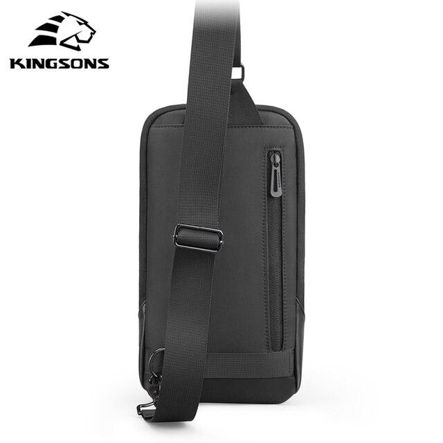 Kingsons Anti-theft Crossbody Bags Male Waterproof Chest Pack Short Trip Messenger Sling Bag Shoulder Chest Bag 2