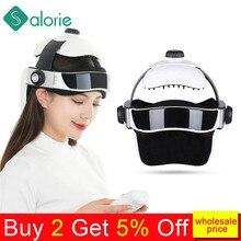 Elektryczny masażer do głowy masaż mózgu kask z muzyką regulowana do rozmiaru głowy rozmiar Instrument gospodarstwa domowego masaż głowy urządzenie relaksacyjne