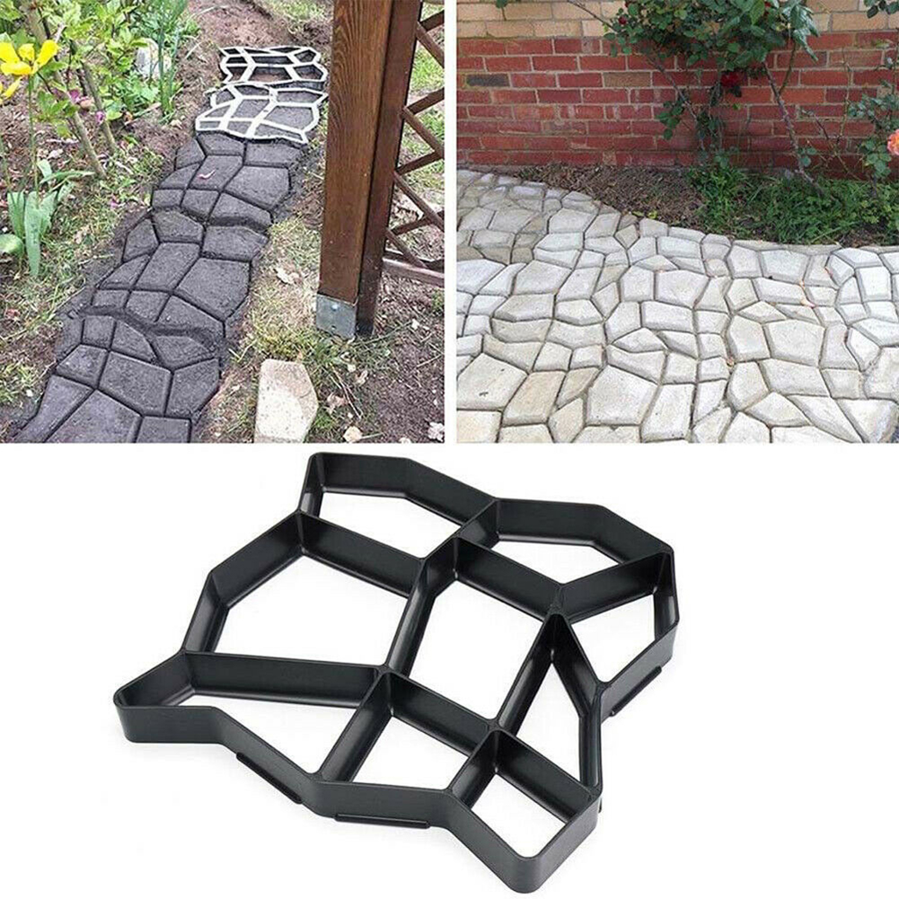 1 шт. профессиональные прочные бетонные формы для сада «сделай сам», многоразовая форма для создания дорожек, форма для цемента, каменная пл...