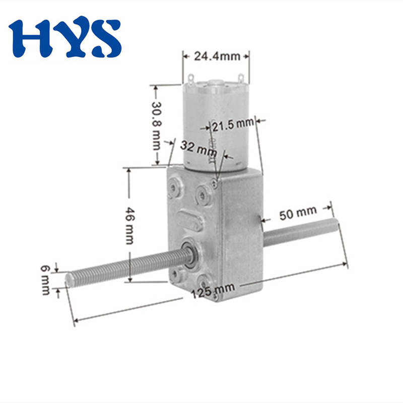 HYS <font><b>DC</b></font> <font><b>Motor</b></font> <font><b>6V</b></font> 12V 24V <font><b>Gear</b></font> Double Shaft 50mm M6 Electric 12 V Volt Mini <font><b>Motors</b></font> Reducer Micro Metal Reverse DC12V JGY370 image