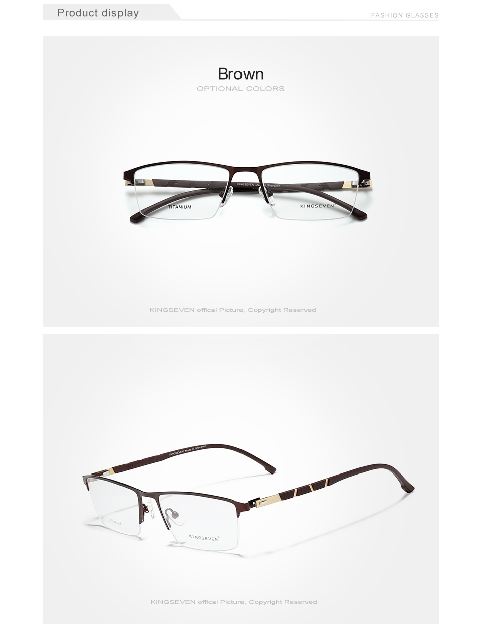 KINGSEVEN Titanium Glasses Frame Women Vintage Round Myopia Optical Prescription Eyeglass Frame Men 2020 New Oval Eyewear