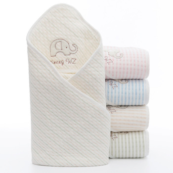Colored Cotton Baby Gauze Hug Quilt  Newborn Wrapper Fall/Winter Swaddle Blanket Spring And Summer