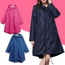 Chubasquero para hombre y mujer, ropa de lluvia con capucha, Poncho portátil a prueba de viento con cremallera, chaqueta de lluvia para motocicleta