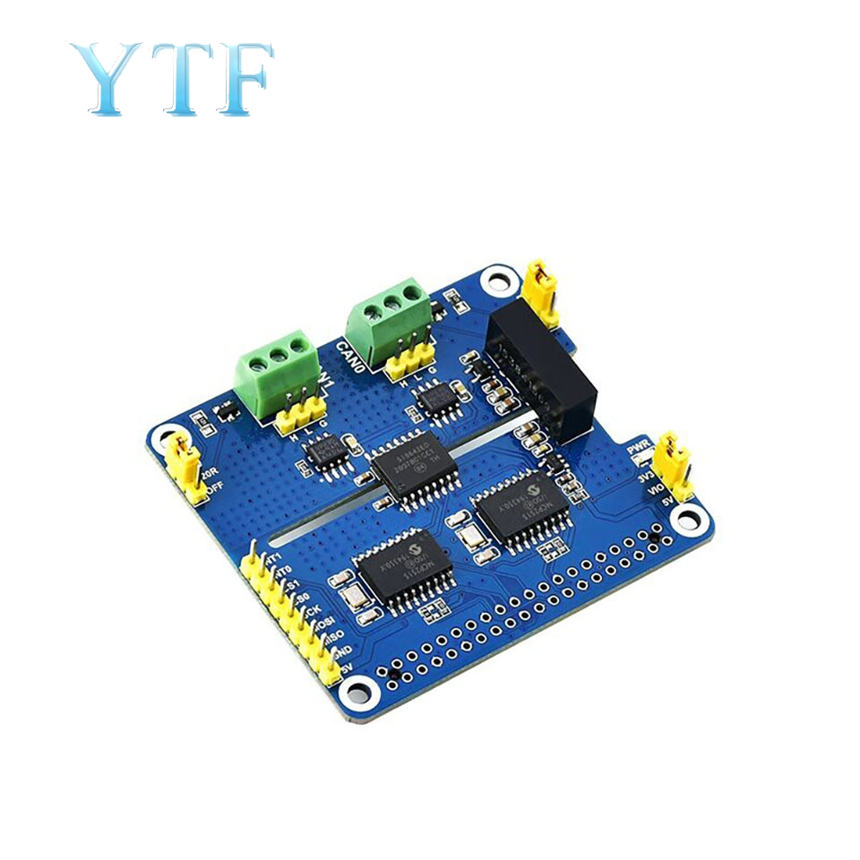 Raspberry Pi Dual-Channel Isolated CAN Bus Expansion Board Module Support Fd On Protection Circuitry