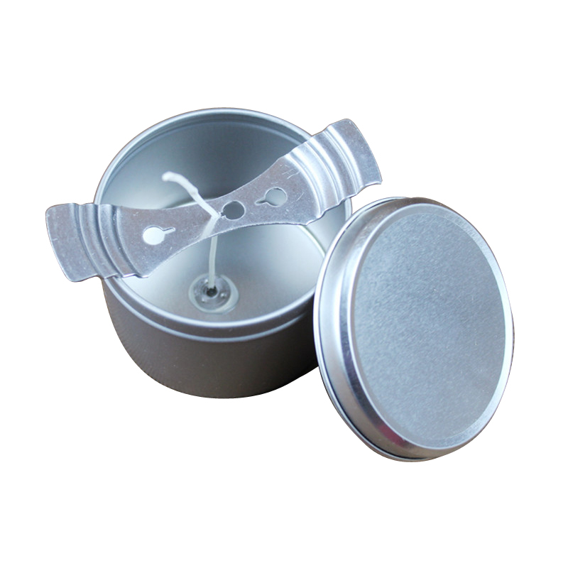 Metal Candle Jar Round Container Tin With Lid Candle Wick Centering Device DIY Candle Making Kit For Party Favors Arts & Crafts