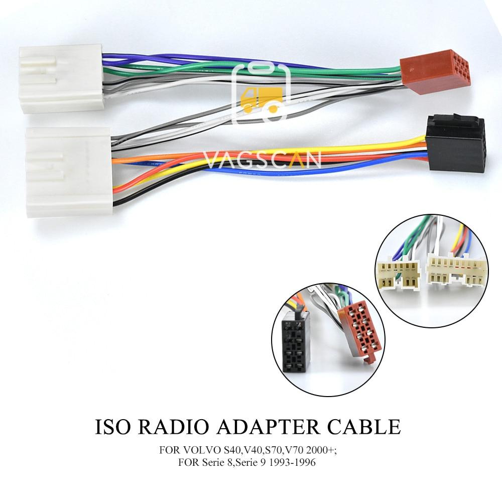 C2 Car ISO Wiring Harness Adaptor Lead|For Volvo S40//S60//S80//V70//V40//V80//XC70