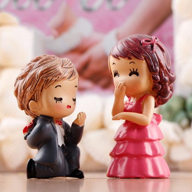 1set Boy Girl Home Decor Sweety Lovers Couple Chair Figurines Miniatures Resin Crafts Terrariums Fairy Garden Moss Children Toy