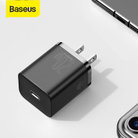Baseus USB C Charger 20W US Plug For iPhone 12 Pro Max Support Type C PD Fast Charging Portable Phone Charger ForiP 11 Pro Max