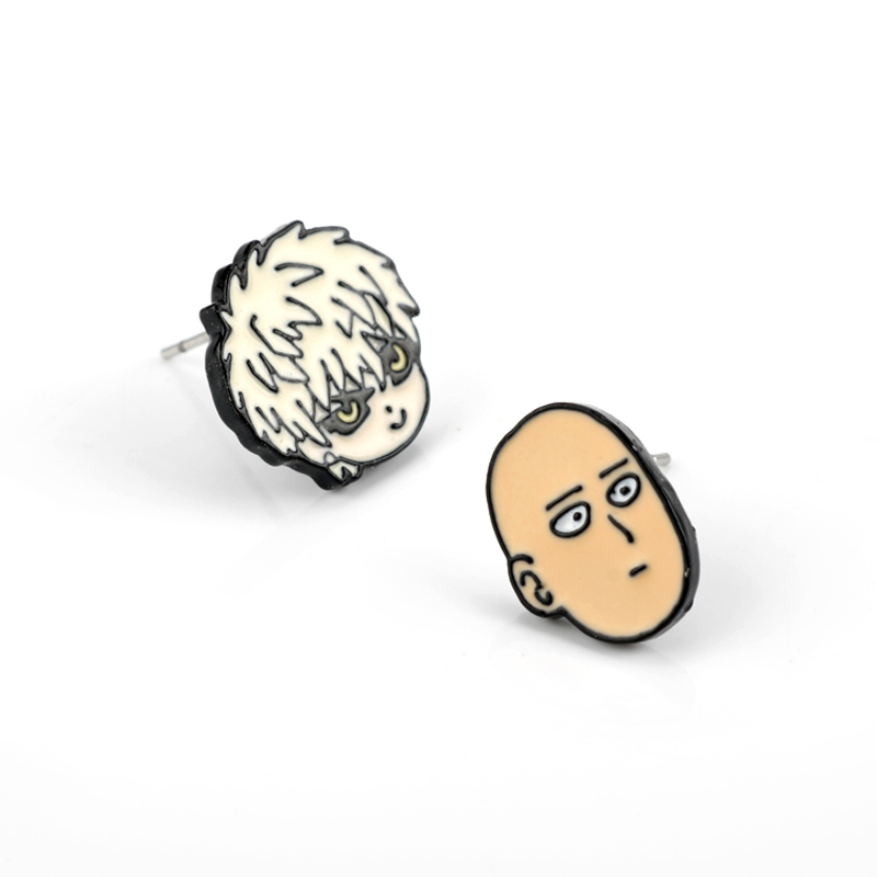 Funny Anime ONE PUNCH MAN Earring Saitama Genos Cute Funny Charm Fashion Women Alloy Earring For Party Accessory