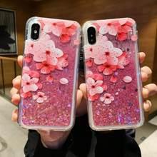 Flamingo Liquid Case For Xiaomi Redmi Note 6 5 Pro 7 4X 6A Mi A1 MI8 Lite mi9 se Glitter Dynamic quicksand Cover For Redmi 7 5(China)