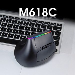 Image 2 - Delux M618C Wireless Mouse Ergonomic Vertical 6 Buttons Gaming Mouse RGB 1600 DPI Optical Mice With For PC Laptop