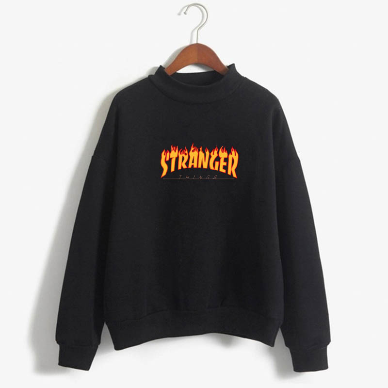 Stranger Things Official Television Series Men's Solid Logo Sweatshirt  Unisex STRANGER THINGS Hoodie - Stranger Things 23