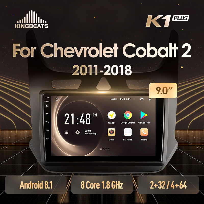 Kingbeats 8.1 Head Unit 4G Di Dash Mobil Radio Pemutar Video Multimedia Gps Navigasi untuk Chevrolet Cobalt 2 2011 2018