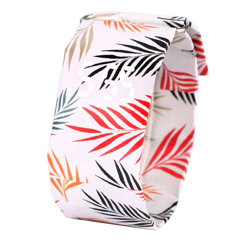 Glorious Colored Leaves Watch Durable DuPont Paper Materials Paper Watches For Women Comfortable Light Weight Paper Wristwatch