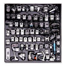 Prensatelas para máquina de coser, pies de prensa para Brother Singer, Kit de puntada ciega trenzada, piezas de regla de cremallera OverLock, 32/52/62/72/82