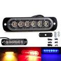 1 шт. универсальная 6 светодиодная световая панель, аварийная Автомобильная сигнальная лампа, стробоскопическая вспышка, 4 цвета на выбор