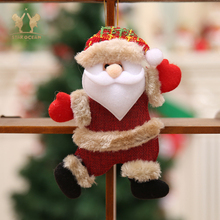 Christmas Hang Decoration Snowman Tree Hanging Ornaments Gift Santa Claus Elk Reindeer Toy Doll Decorations