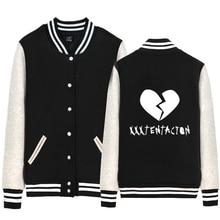 xxxtentacion Broken Heart Man jacket Boy Coat Single breasted Baseball Fleece Autumn Winter Couple Clothes ZIIART