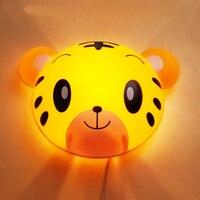 New Little Tiger Bear LED Night Lamp Children Bedroom Bedside Lamp LED Wall Night Lights Kids Cartoon Decor Lighting Fixtures