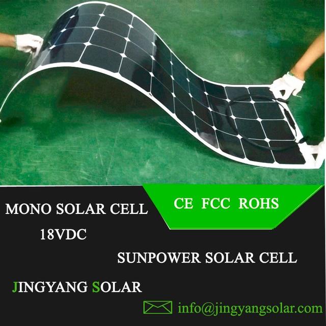 Hot Sale 100w 200w flexible solar panel 18V for 12V solar battery charger monocrystalline solar cell panel solar home system kit 6