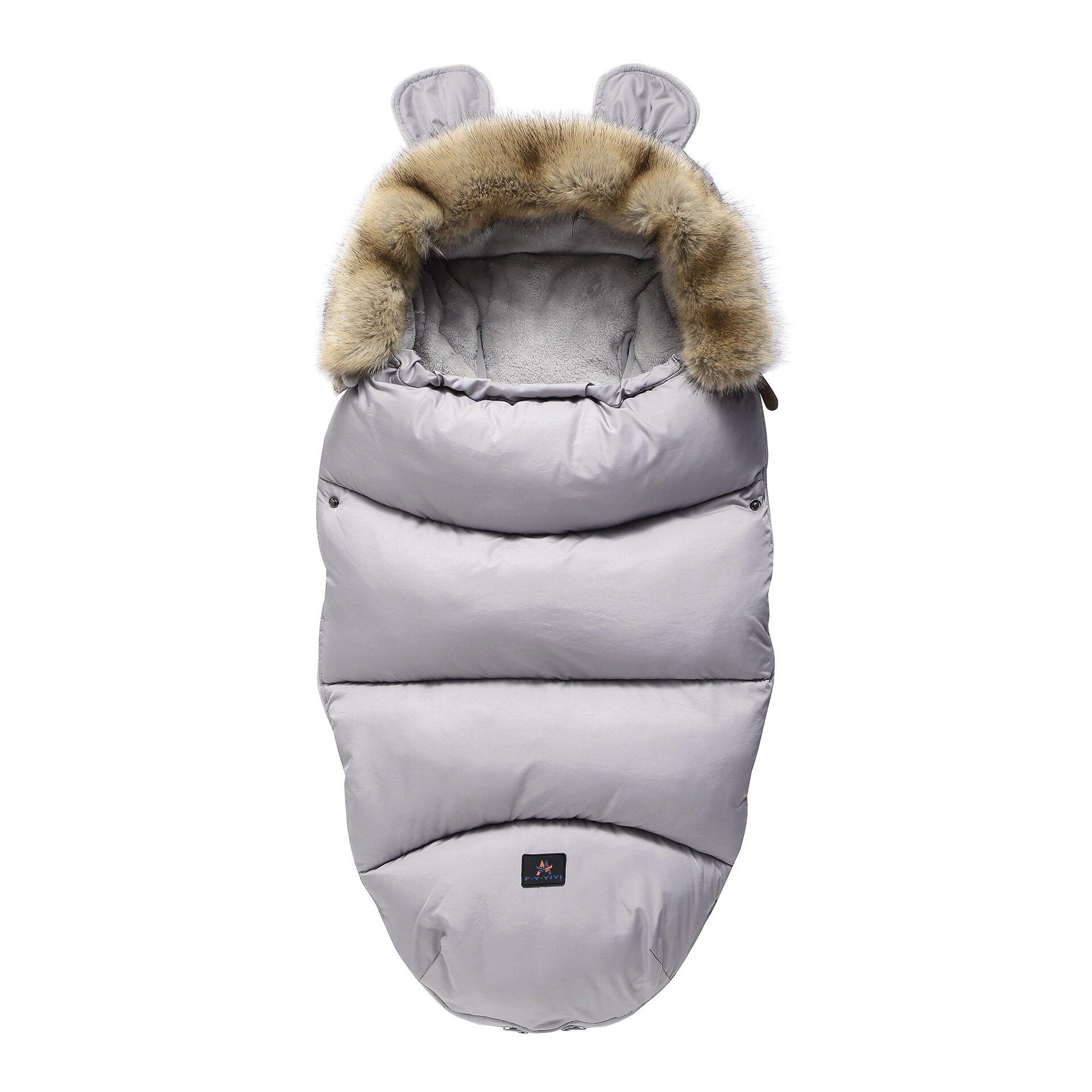 Зимние теплые спальные мешки для новорожденных, теплые спальные мешки для младенцев, пеленание для завёртывания для пеленания, коляска, обертывание, одеяло для сна, сумки - Цвет: gray