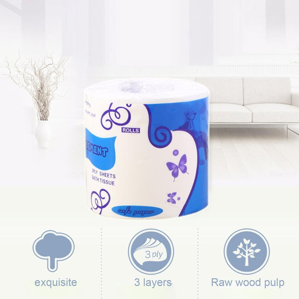 1/2/6/10 Rolls Standard 3-ply Toilet Paper Bulk Rolls Bath Tissue Household Bathroom Soft Paper Towel
